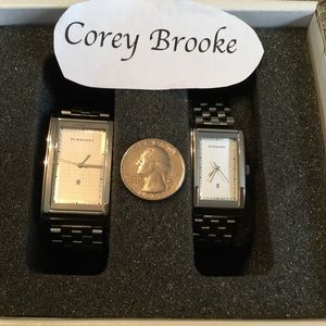 Set of Burberry watches - men and women's
